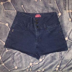Navy Blue High Waisted Shorts (Size 5)